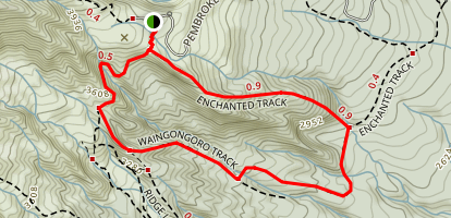 Enchanted/Waingongoro Track Loop Map