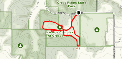 Ice Age Complex at Cross Plains Map
