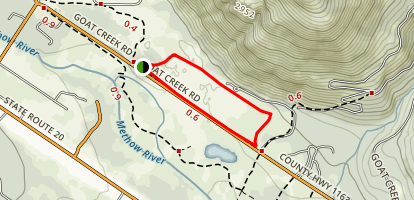 Flagg Mountain Loop Map