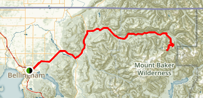 Mount Baker Highway to Artist Point Map