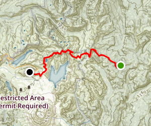 Boundary Trails: Elk Pass to Johnston Ridge Observatory Map