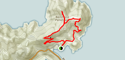 Benmore Dam Lookout Map