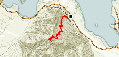 Roy's Peak Track Map