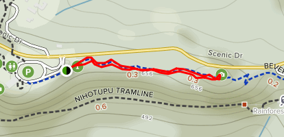 Beveridge Track to Lookout Map