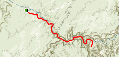 San Rafael River Gorge Trail Map
