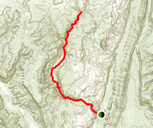 Lower Hackberry Canyon Trail Map