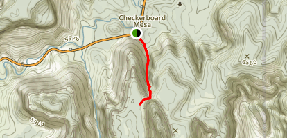 Checkerboard Arch Trail Map