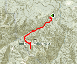 Baldy Trail (historical) Via Gray Wolf Trail Map