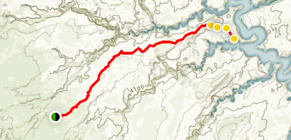 Escalante River and Fifty Mile Creek Map