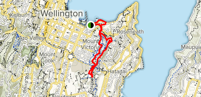 Map Of Wellington New Zealand.Mount Victoria Loop Wellington New Zealand Alltrails