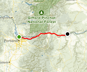 Historic Columbia River Gorge Highway Map