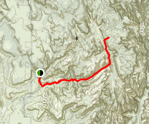 Right Fork of North Fork Map