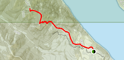 Domerie Peak Trail Map