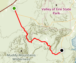 Bitter Springs Trail Back Country Byway Map