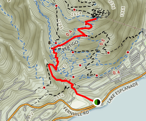 Fernhill Road to Ben Lomond Hill Map