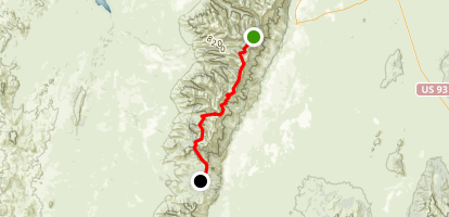 Ruby Crest Trail to Harrison Pass Map