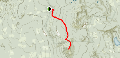 Indian Racetrack Trail to Red Mountain Lookout Map