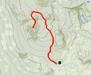 Gifford Peak via PCT Map