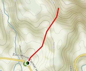 Two Pine Arch Trail Map