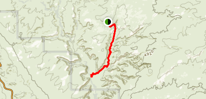 Lost Spring Canyon Map