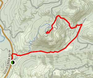 Wildcat Trail to Green Mountain Map