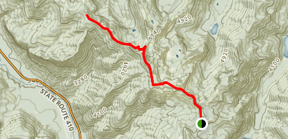 Dalles Ridge Trail Via Noble Knob Trail Map