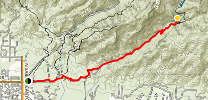 Bear Canyon to Seven Falls Trail Map