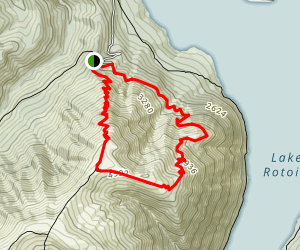 Mount Robert Loop - Pinchgut and Paddys Tracks  Map