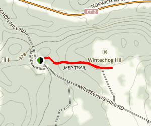 Jeep Trail to Wintechog Hill Map