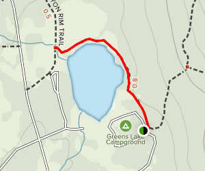 Greens Lake Map