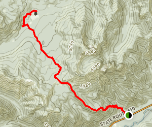 Crow Lake Trail Map