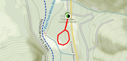 Dalles Campground Trail Map