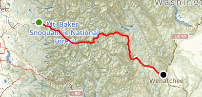 Stevens Pass Scenic Byway Map