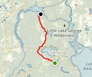 Florida Trail: Salt Springs to Ocklawaha River Map