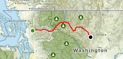 Washington's Cascade Loop Scenic Driving Tour |North Cascades Highway Map