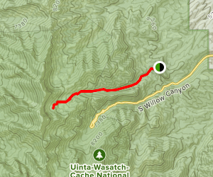 South Willow Canyon via Mining Fork Trail Map