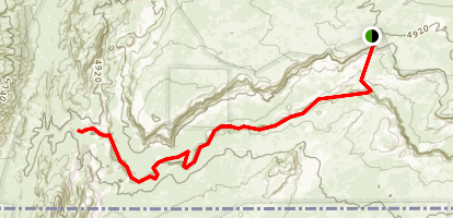 Middle Trail to Buckskin Gulch Map