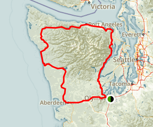 Olympic Peninsula Loop Map