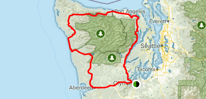 Map Of Olympic Peninsula Olympic Peninsula Loop Drive   Washington | AllTrails
