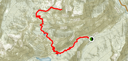 Cashmere Mountain Map