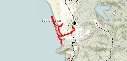 Bethells Beach Walk Map