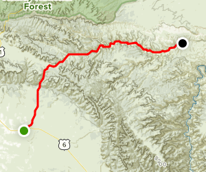 Nine Mile Canyon Back Country Byway Map