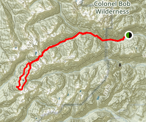 O'Neill Pass To Lake La Crosse Loop Map