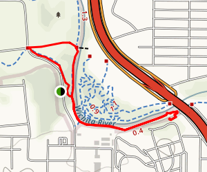 Wichita Falls via Wichita River Trail Map