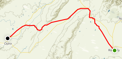 Otago Rail Trail - Ranfurly to Omakau Map