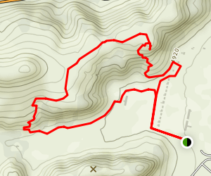 North Ridge and Hospital Canyon Loop Trail Map