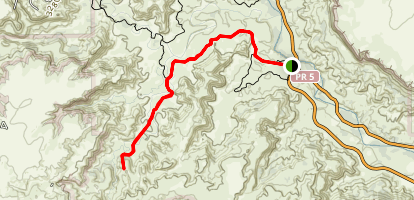 The 'GSL' and Capitol Peak Trails Map