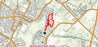 Lower Falls and Homestead Loop Trail Map
