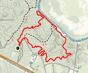 McKinney Roughs Loop Trail Map