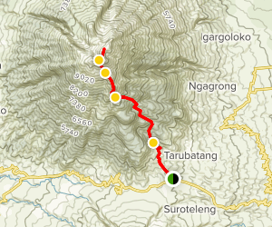Merbabu Mountain Trail Map